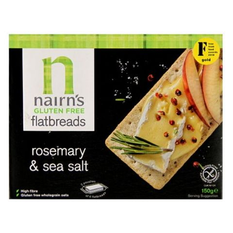 Nairn's Rosemary & Sea Salt Gluten Free Flatbreads 150g